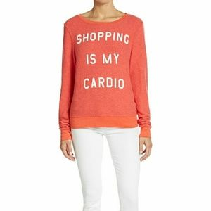 NWT Wildfox Shopping is my Cardio Sweater